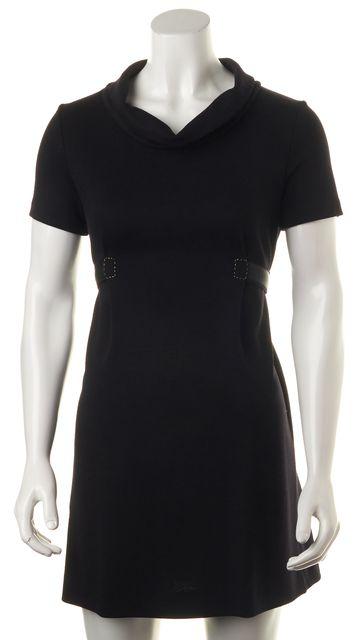 FENDI Black Wool Blend Fit & Flare Dress