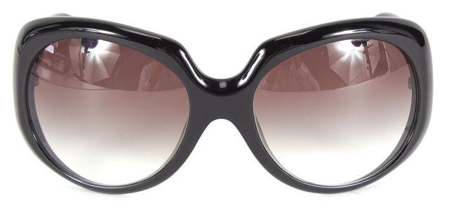 FENDI Black Acetate Gradient Lens Oversized Oval Sunglasses w/ Case
