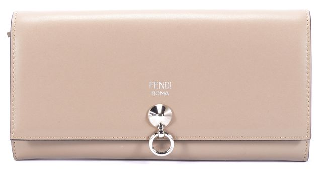 FENDI Gray Continental Leather Wallet
