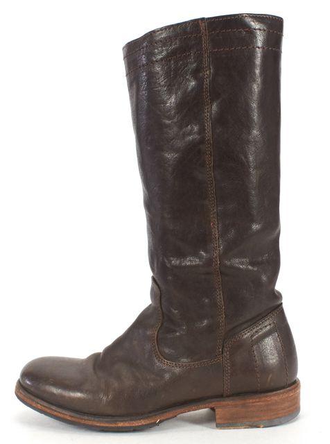 FIORENTINI + BAKER Dark Brown Leather Mid-calf Boots