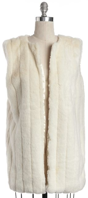 FOR LOVE & LEMONS White Faux Fur Open Vest