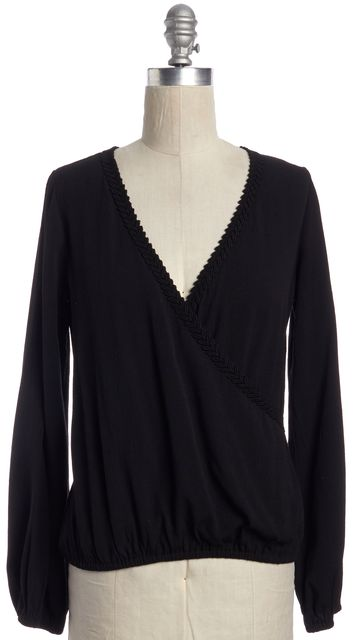 FOR LOVE & LEMONS Black Stretch Blouse Top