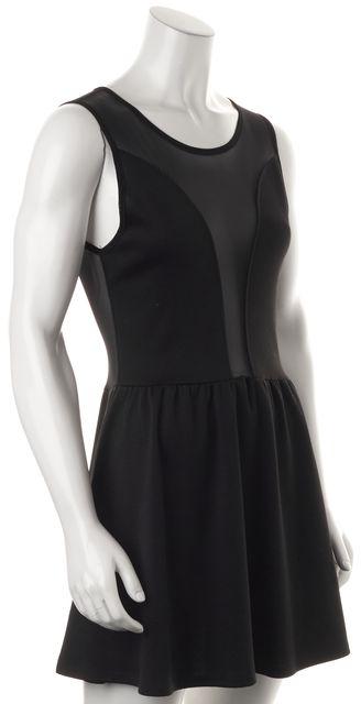 FOR LOVE & LEMONS Black Mesh Panel Sleeveless Fit & Flare Dress