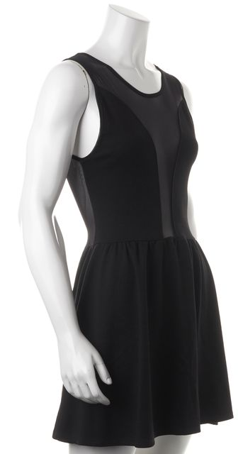 FOR LOVE & LEMONS Black Sheer Sleeveless Above Knee Sheath Dress