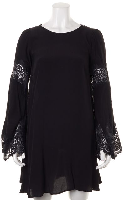 FOR LOVE & LEMONS Black Shift Dress