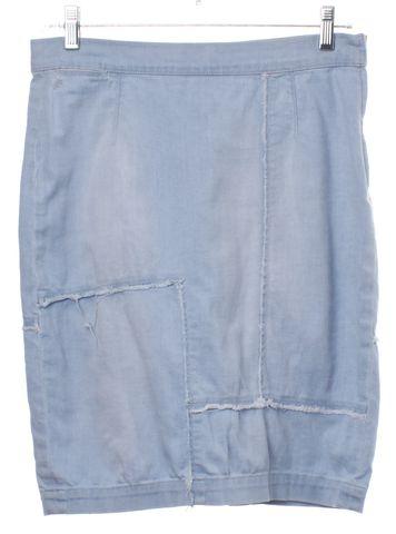 FRAME DENIM Light Blue Denim Pencil Skirt