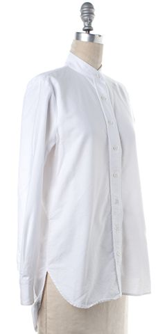 FRAME DENIM White Cotton Oxford Button Down Shirt