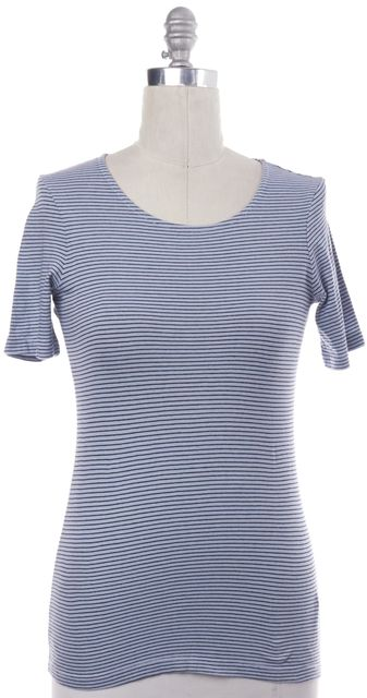 FRAME Blue Navy Striped T-Shirt