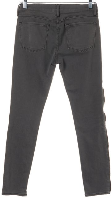 FRAME Gray Skinny Jeans With Zip Detail