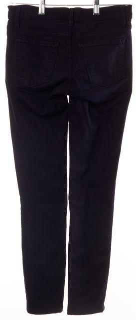 FRAME Blue Le Skinny de Jeanne Dark Wash Mid-Rise Slim Fit Jeans