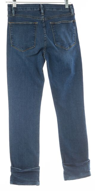 FRAME Blue Medium Wash Le High Straight Jeans