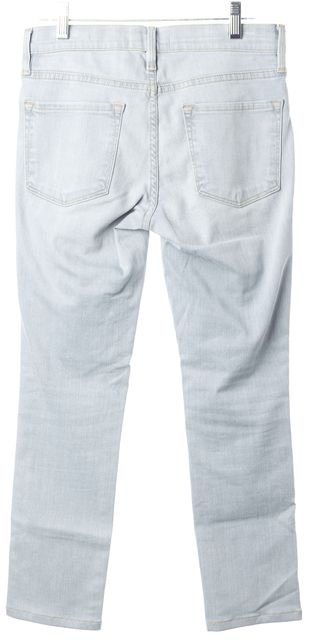 FRAME Blue Redchurch Light Wash Stretch Cotton Skinny Jeans