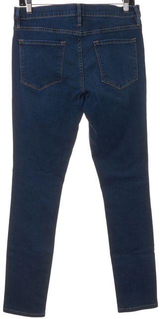 FRAME Blue Columbia Road Medium Wash Mid-Rise Le Skinny de Jeanne Jeans
