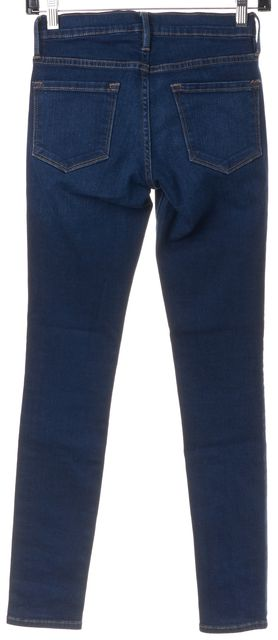 FRAME Blue Columbia Road Mid-Rise Medium Wash Skinny Jeans
