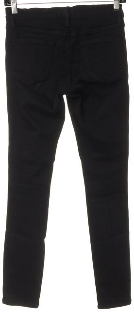 FRAME Black Stretch Cotton Distressed Skinny Jeans
