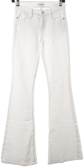 FRAME White Le High Flare Boot Cut Bell Bottom Stretch Jeans