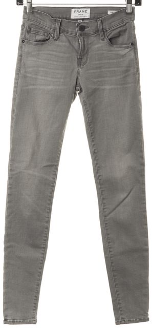 FRAME Gray Wilton Stretch Denim Le Skinny de Jeanne Jeans