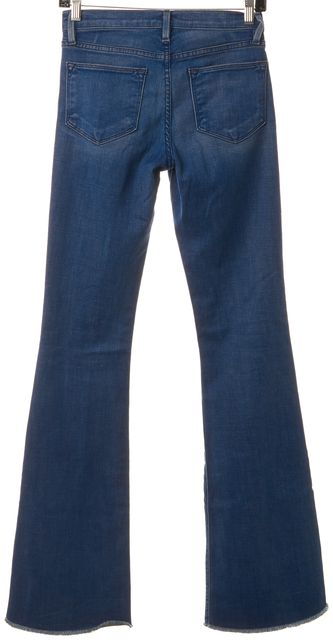 FRAME Blue Le High Flare Slim Fit Boot Cut Bell Bottom Jeans