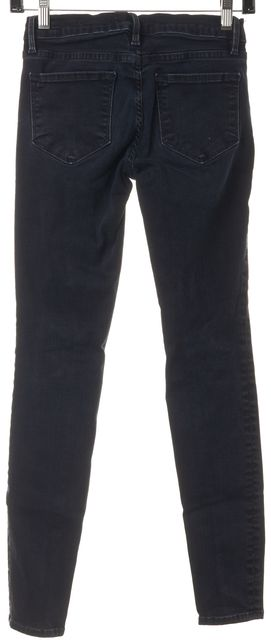 FRAME Blue Manor Ave Dark Wash Stretch Denim Le Skinny de Jeanne Jeans