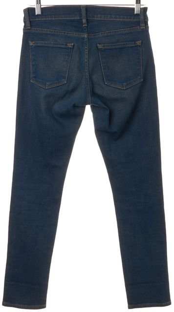FRAME Blue Roxbury Medium Wash Cotton Denim Skinny Jeans