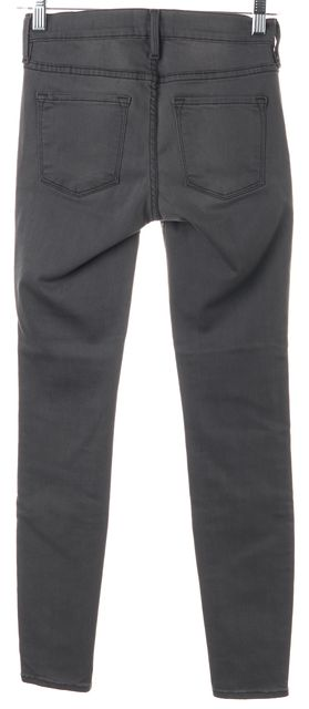 FRAME Gray Stretch Cotton Mid-Rise Skinny Jeans