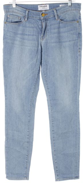 FRAME Blue Prospect Light Wash Denim Le Skinny de Jeanne Jeans