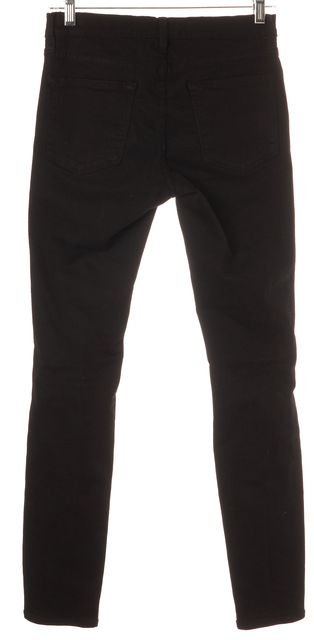 FRAME Black Le Skinny de Jeanne Full Leg Distressed Jeans