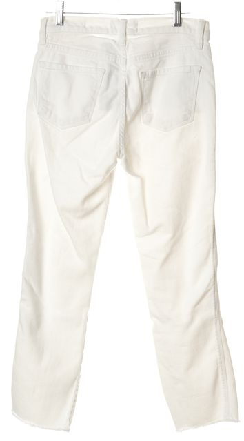 FRAME White Le High Straight Slim Fit Jeans