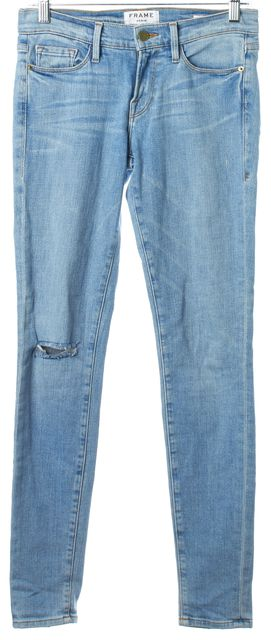 FRAME Light Blue Wash Le Skinny de Jeanne Skinny Jeans