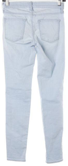FRAME Doheny Blue Stretch Cotton Low Rise Skinny Jeans
