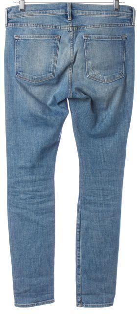 FRAME Blue Le Garcon Skinny Jeans