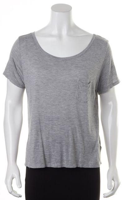 FRAME Heather Gray Short Sleeve Front Pocket T-Shirt