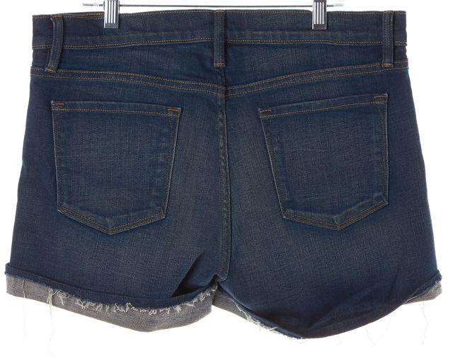 FRAME Blue Medium Wash Le Cutoff Denim Shorts