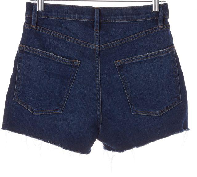 FRAME Blue Medium Wash Le Original Denim High-Waisted Shorts