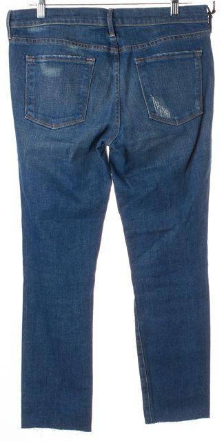 FRAME Blue Distressed Le Skinny de Jeanne Skinny Jeans
