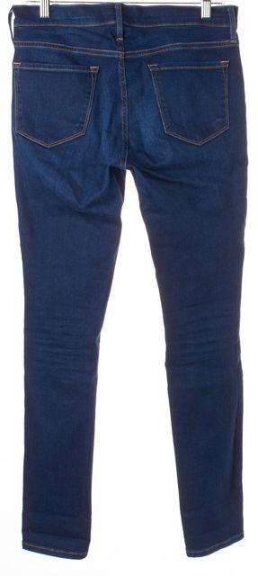 FRAME Blue Columbia Destroyed Le Skinny de Jeanne Skinny Jeans