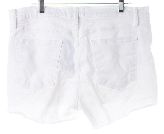 FRAME White Blanc Taffs Distressed Denim Le Cutoff Shorts