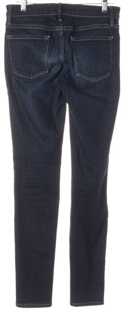 FRAME Queens Way Blue Stretch Cotton Mid-Rise Skinny Jeans