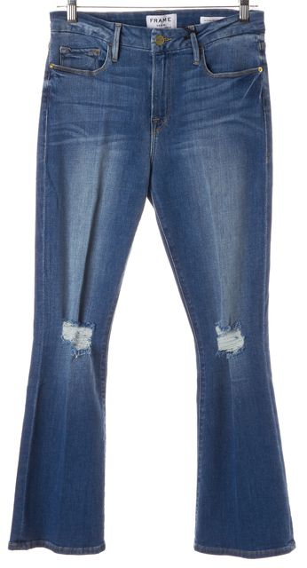 FRAME Stony Creek Blue Le Crop Mini Boot Cut Jeans