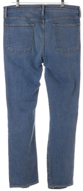 FRAME Le Debs Blue Distressed Le High Straight Leg Jeans