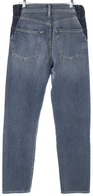 FRAME Elton Blue Stretch Cotton Le Original Straight Leg Jeans