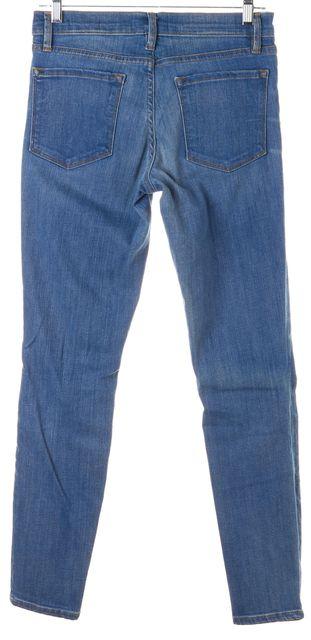 FRAME Linden Blue Stretch Cotton Mid-Rise Skinny Jeans
