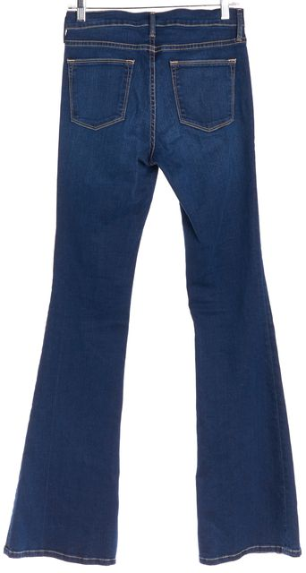 FRAME Blue Five Pocket Le High Flare Jeans