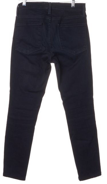 FRAME Manor Avenue Blue Stretch Cotton Cropped Skinny Jeans