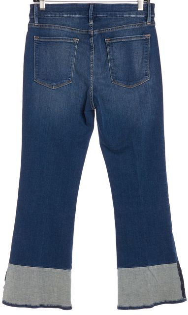 FRAME Blue Medium Wash Le Crop Mini Boot Jeans