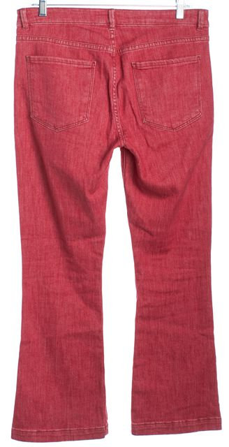 FRAME Red Le Crop Mini Boot Cut Jeans