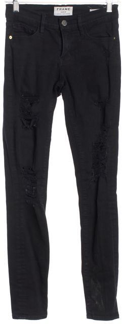 FRAME Black Le Skinny de Jeanne Film Noir Skinny Jeans