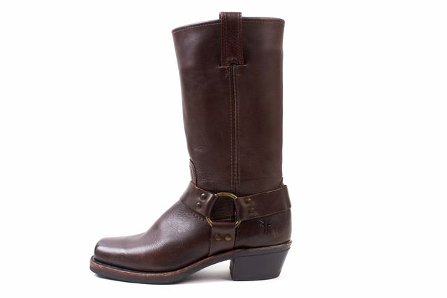 FRYE Brown Leather Cowboy Mid-Calf Boot