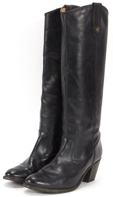 FRYE Black Casual Knee-high Round Toe Riding Tall Boots