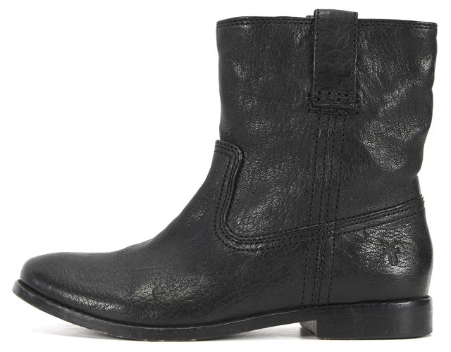 FRYE Black Leather Ankle Boots